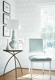 la farge wallpaper in aqua darien chair in tanzania woven