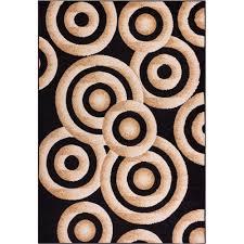 well woven miami sunshine circles modern geo 5 ft x 7 ft black
