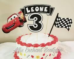 cars birthday cake cars cake topper etsy