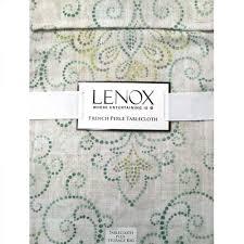 lenox perle charm tablecloth and napkins kugler s home