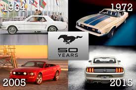 mustang models by year pictures ford mustang turns 50 a history in pictures u s