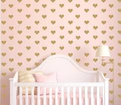 mini heart decals gold hearts tiny hearts sticker wall art zoom
