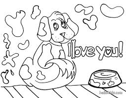 dog love coloring pages hellokids
