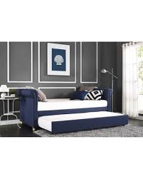 amazing deal dhp sophia navy linen upholstered daybed and trundle