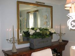brilliant dining room mirrors gray walls on the wall tufted