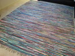 Rag Area Rug 8x10 Rag Rug Chindi Cotton Rugs Scandinavian Large Area Rug