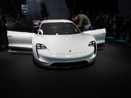 porsche mission e charging porsche mission e live photos