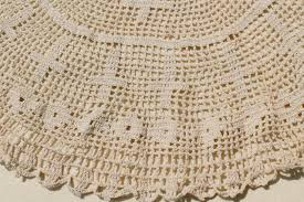 crocheted lace tablecloths large crochet doily centerpiece and