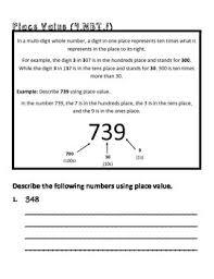 4th grade math common core worksheet 4 nbt 1 by teachlivedream