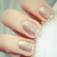 best metallic nail art and manis for brides brides