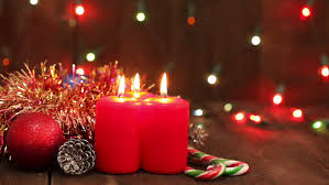 Christmas Decorations Video Lights by Holiday Christmas Candle Light And Flashing Lights Stock Footage