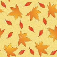 thanksgiving seamless pattern of different leavs eps 8 cmyk