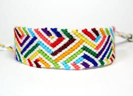 friendship bracelet rainbow images Rainbow optical illusion friendship bracelet by quietmischief on jpg