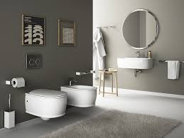 Bathroom Design Small Spaces Wall Hung Sanitary Fixtures For Small Space Conscious Bathroom Designs