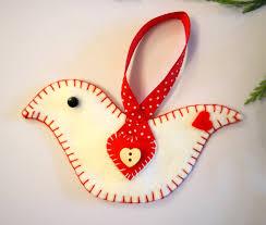 scandinavian christmas decoration felt bird craft kit for adults