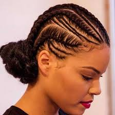 images of black braided bunstyle with bangs in back hairstyle natural black updo hairstyles for women hairstylesco