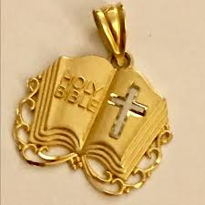 bible necklace jewelry solid 14k gold bible necklace pendant poshmark