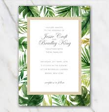 palm tree wedding invitations tropical palm tree leaves wedding invitation template 100 free