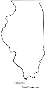 illinois state flag and map coloring pages