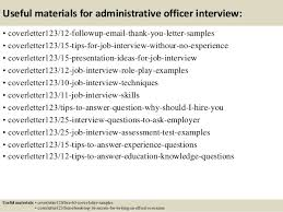 top 5 administrative officer cover letter samples