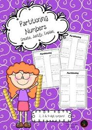 place value partitioning worksheets create justify explain