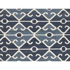 Blue Wool Rug 8x10 Jaipur Living Rug100183 Anatolia Coll Flat Weave Tribal Pattern