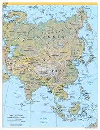 Map Of India Physical Blank by