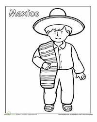 mexican coloring pages multicultural coloring mexico mexican traditional clothing