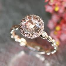 gold and morganite engagement rings 14k gold floral morganite engagement ring in by lamoredesign