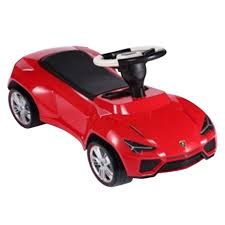 toy lamborghini urus licensed ride on push car red