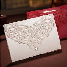 bridal cards white customized hollow flora wedding invitations cards