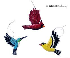 handmade fair trade metal summer birds ornaments from