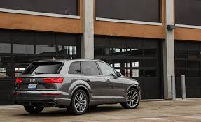 audi suv q7 interior 2017 audi q7 in depth model review car and driver