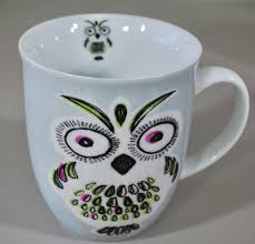 owls coffee mug by creative tops with and green