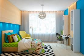 remarkable colorful modern teenage bedroom design using modern