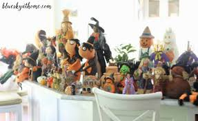 halloween decorations with witches and scarecrows bluesky at home