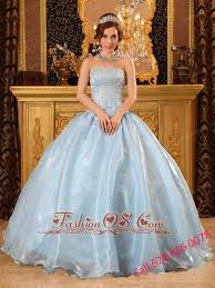 baby blue quinceanera dresses baby blue quinceanera dress strapless organza beading gown