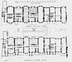 plate 90 whitehall gardens ground and first floor plans