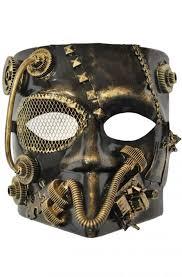 bauta mask steunk robot bauta mask gold purecostumes