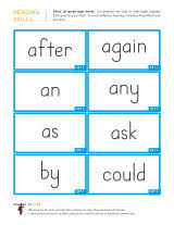 dolch sight word flashcards sparks