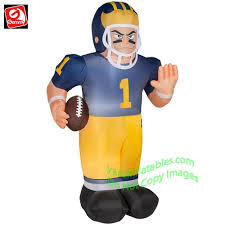 Easter Yard Blow Up Decorations by Gemmy Airblown Inflatable University Of Michigan Wolverine