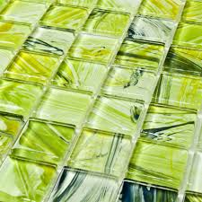compare prices on green glass mosaic tile backsplash online