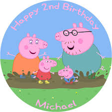 peppa pig birthday peppa pig birthday cake edible printed birthday cake topper