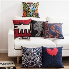 Ikea Sofa Pillows by Nordic Ikea Keith Haring U0027s Masterpiece Sofa Office Linen Pillow