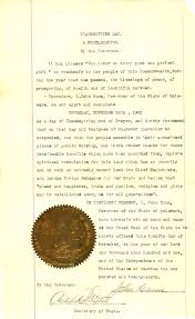 thanksgiving day proclamation 2014 archives blog official blog of the delaware public archives
