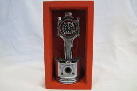 sold seiko timepiece desk ornament working mounted in a conrod