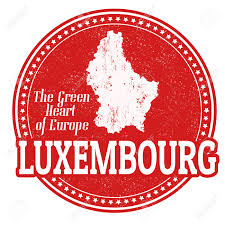Map Of Luxembourg Vintage Stamp With World Luxembourg Written Inside And Map Of