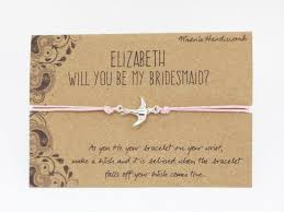 will you be my of honor gift will you be my bridesmaid bracelet bridesmaid wish