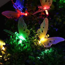 decorative lights for home holigoo fiber optic solar butterfly string lights outdoor lighting