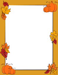 an autumn page border with fall leaves and pumpkins free